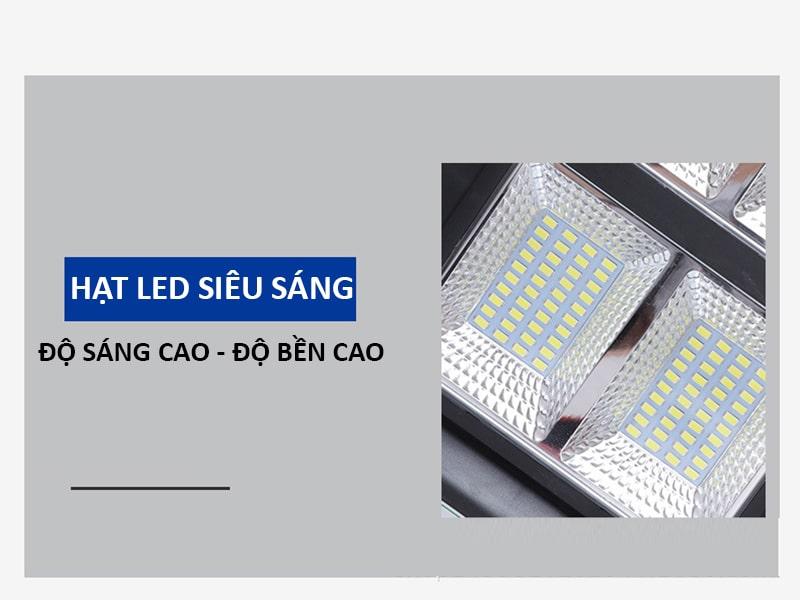 192 chip led cao cấp đèn đường led năng lượng mặt trời 150w