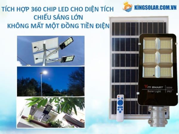 Đèn đường 300W solar Light cao cấp viti smart