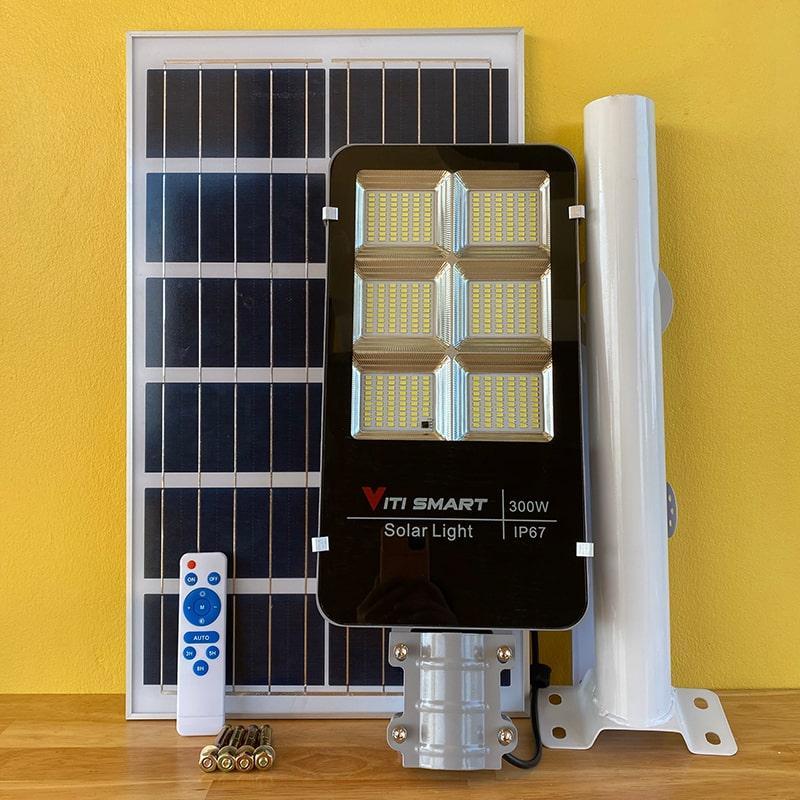 Đèn Đường Năng Lượng Mặt Trời 300W Pin Rời - Viti Smart