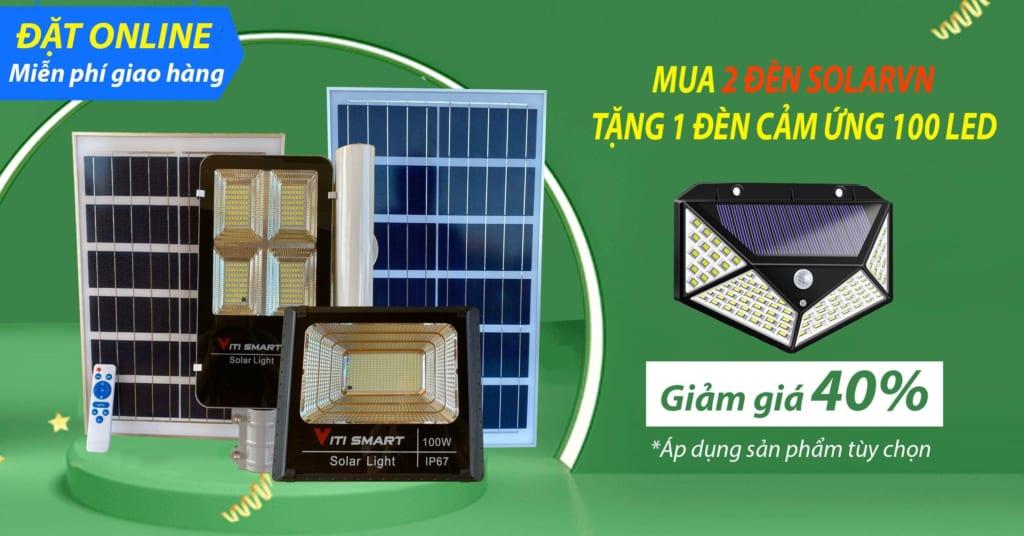 Giảm giá 40% đèn năng lượng mặt trời tại kingsolar