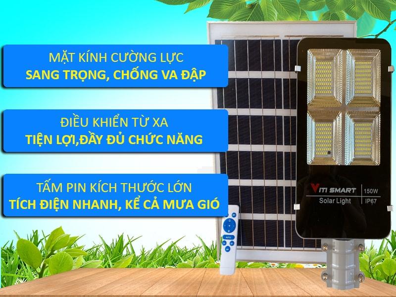 Tấm Pin đèn đường năng lượng mặt trời 150w