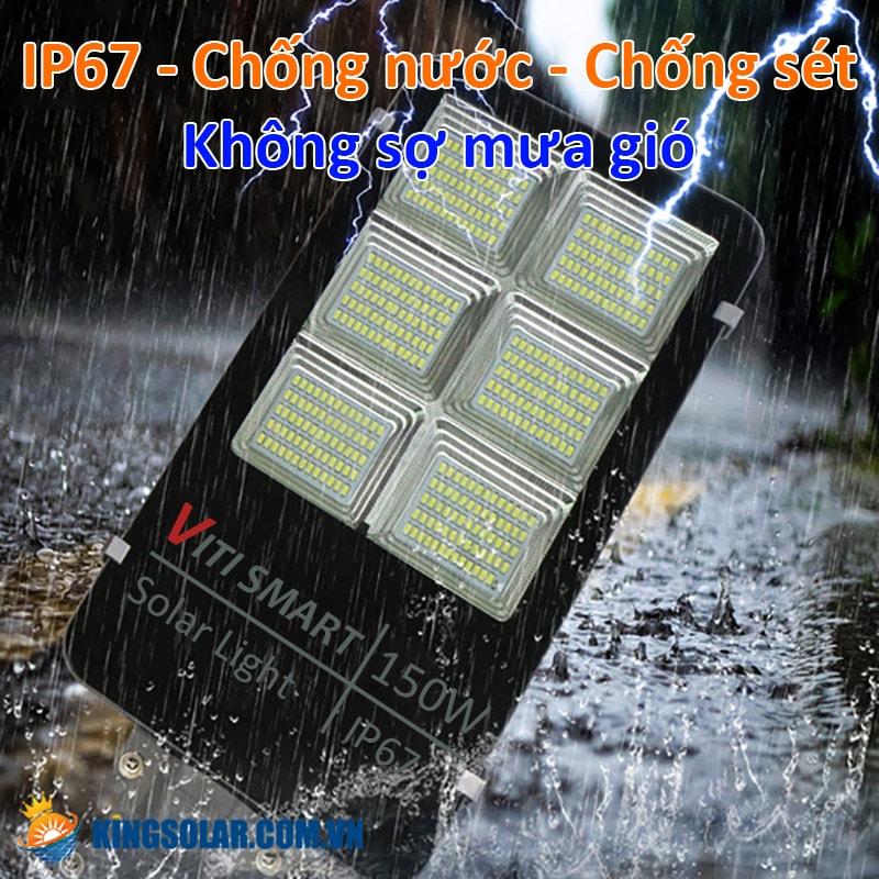 Tiêu chuẩn chống nước IP67 đèn 150W solar light