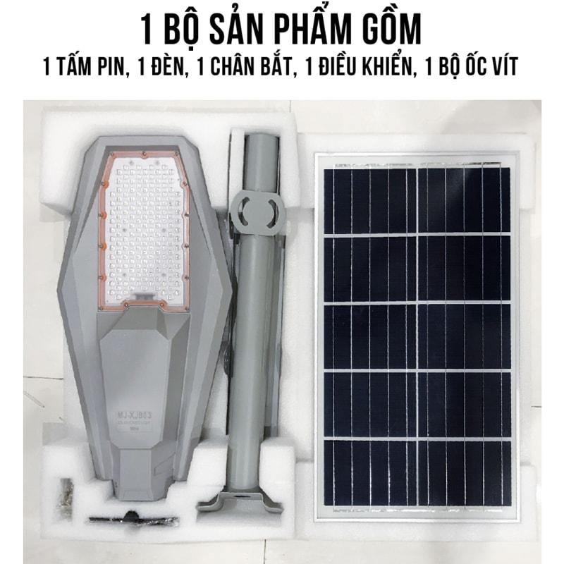 bộ sản phẩm đèn đường army 300w solar light