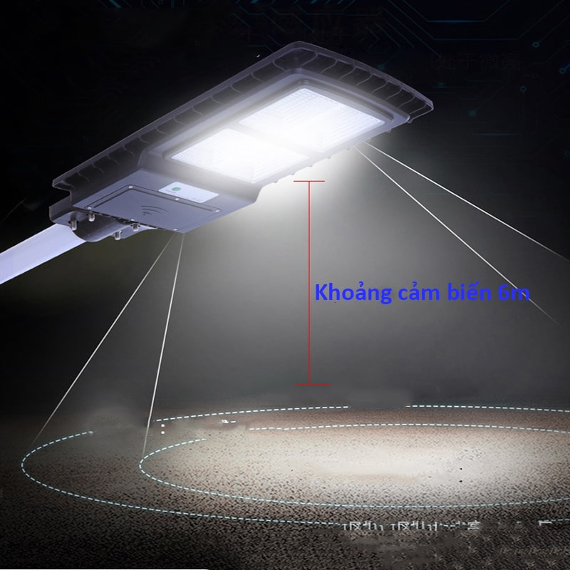 cảm biến chống trộm thông minh đèn led năng lượng mặt trời 150w