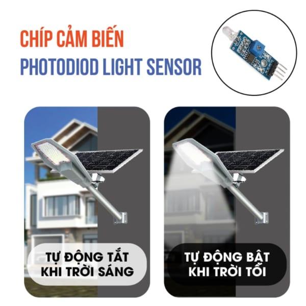 cảm biến chuyển động thông minh đèn solar light army 300w