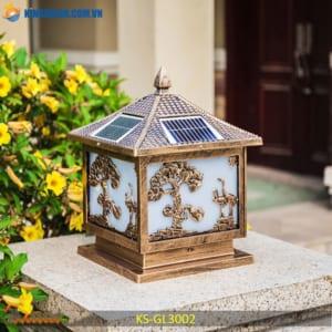 chan den tru conđèn trụ cổng năng lượng mặt trời giá rẻ KS-GL3002g nang luong mat troi ks-gl3002