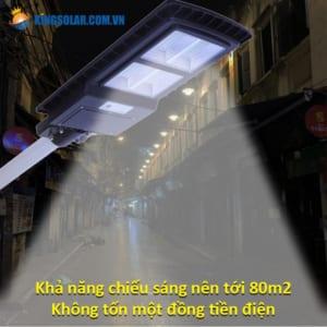 Chiếu sáng lên 80m2 đèn đường 100w solar light viti smart