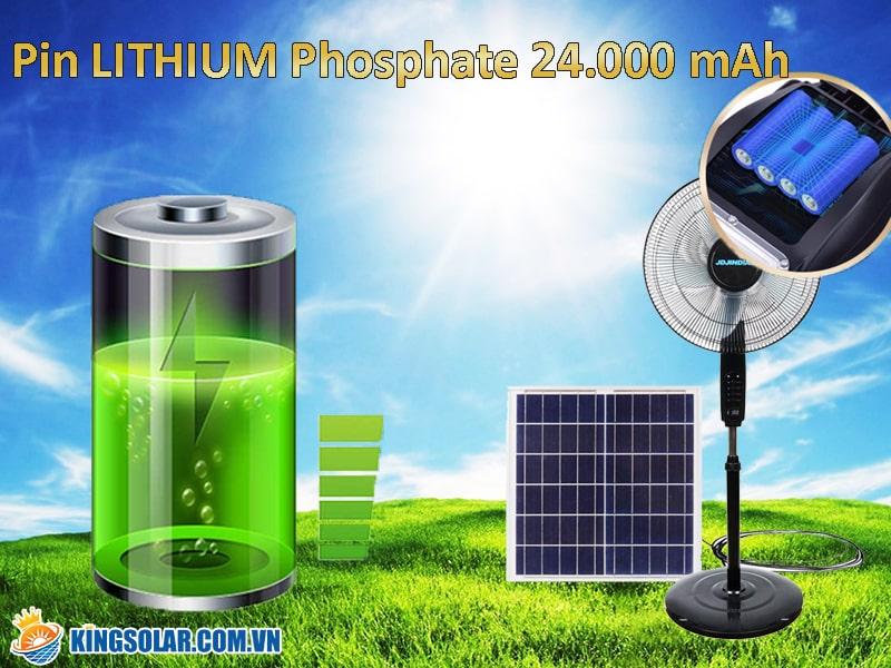 dung lượng tích trữ của quạt năng lượng mặt trời JDS88