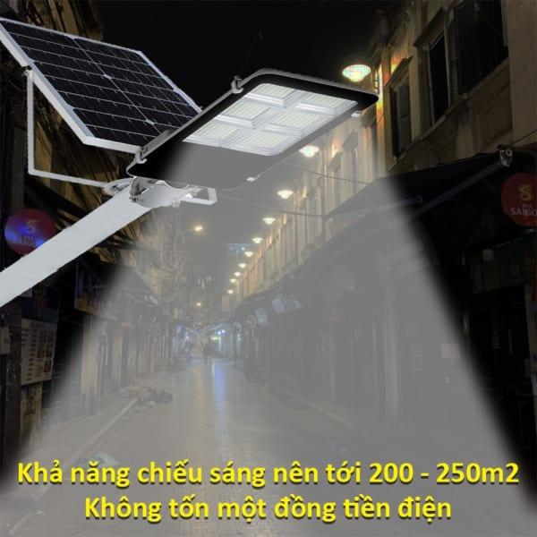 Khả năng chiếu sáng lên tới 200m2 của đèn đường nlmt 300W Pin rời thể