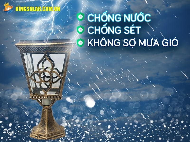 kha nang chong nuoc chong set ip67 cua den tru cong ks-gl12