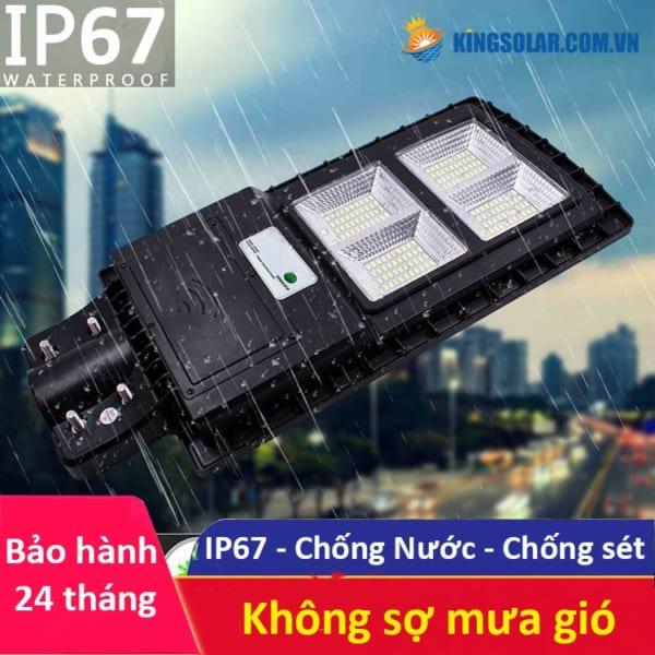 Khả năng chống nước chống bụi IP67 đèn 150w pin liền solar light