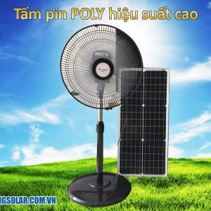 quạt F500 sử dụng năng lượng mặt trời