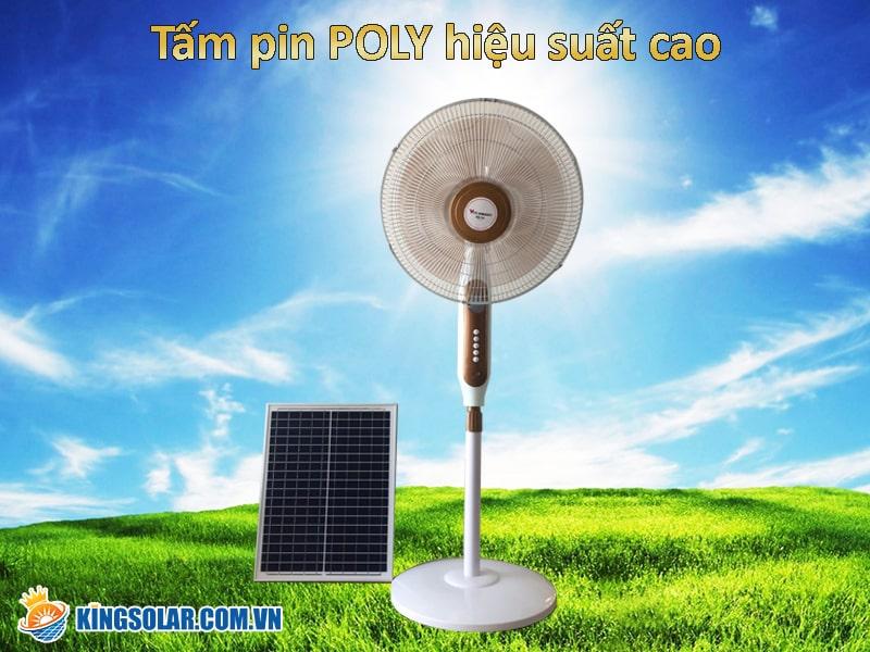quạt năng lượng mặt trời f150 sử dụng năng lượng mặt trời