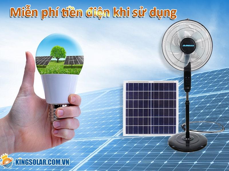 quạt năng lượng mặt trời không lo tốn điện