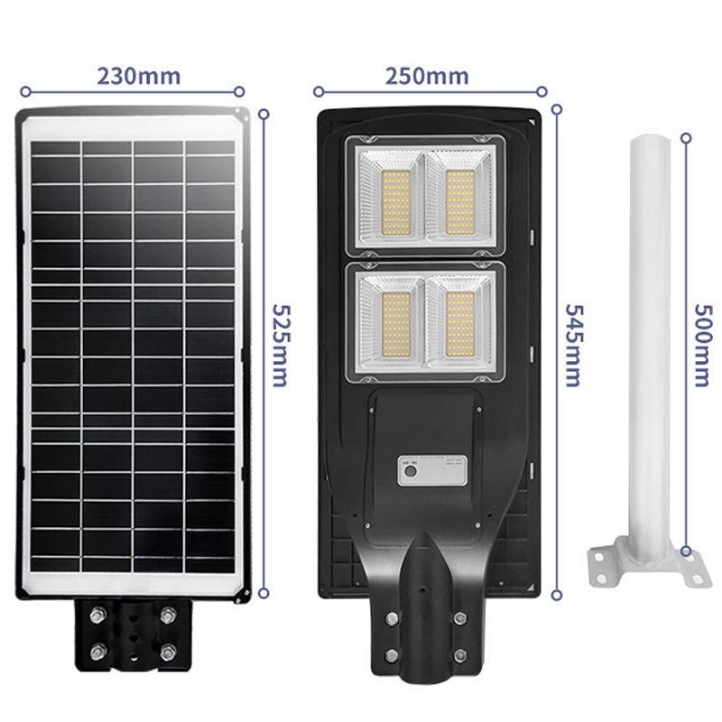 Tấm Pin gắn liền phía sau đèn 120w liền thể solar light