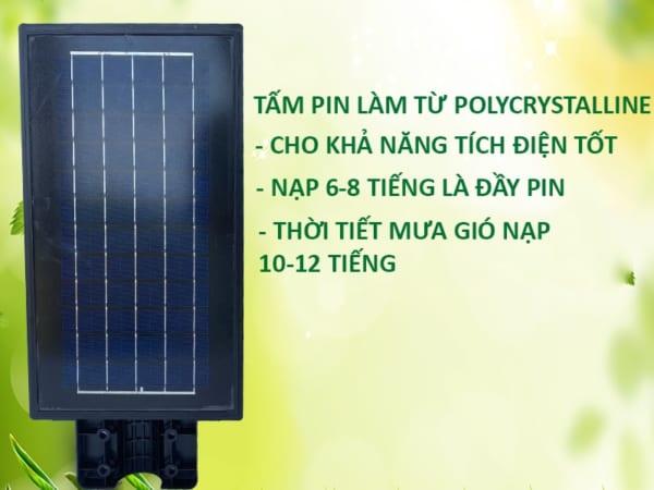Tấm pin gắn phía sau đèn đường 100w solar light