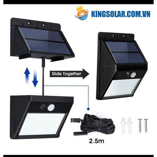 Đèn treo tường năng lượng mặt trời