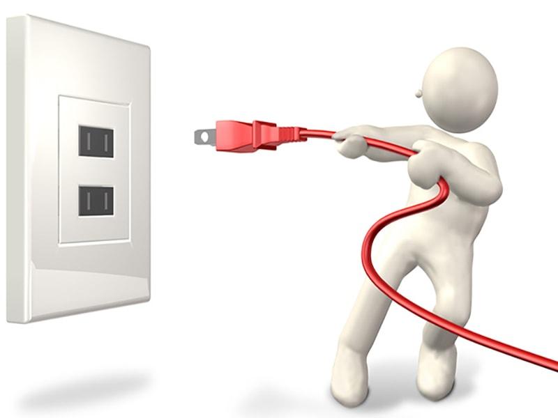 Rút phích cắm để tiết kiệm điện