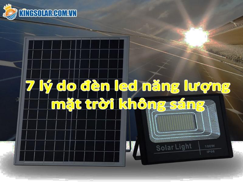 7 lý do đèn năng lượng mặt trời không sáng