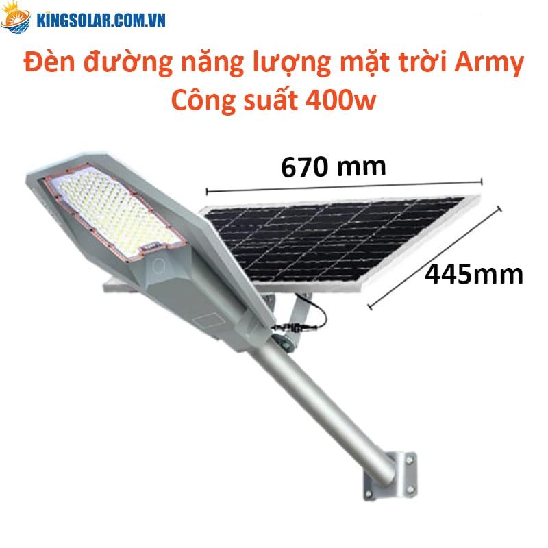Đèn đường năng lượng mặt trời ARMY 400w