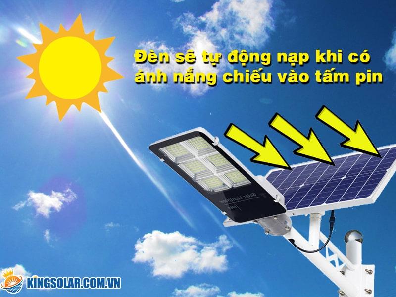 Đèn led solar light sử dụng nguồn năng lượng vô hạn từ ánh sáng mặt trời