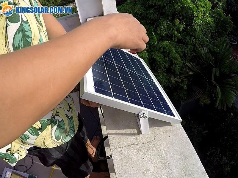 Góc nghiêng của tấm pin năng lượng mặt trời chưa đúng