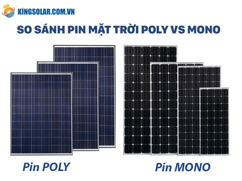 So sánh pin năng lượng mặt trời Poly với Mono