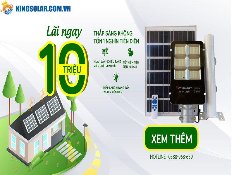 đèn năng lượng mặt trời tiết kiệm điện năng hiệu quả