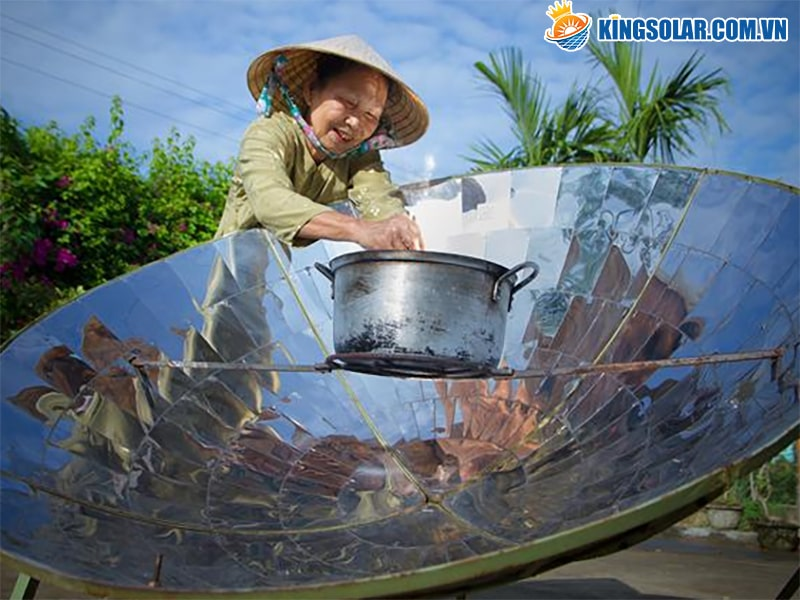 ứng dụng của năng lượng mặt trời trong nấu ăn