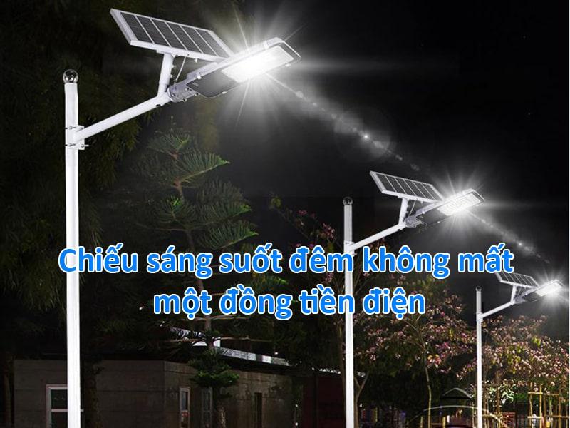 chiếu sáng suốt đêm không mất một đồng tiền điện