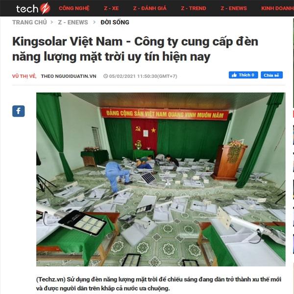 Kingsolar Việt Nam - công ty phân phối đèn năng lượng mặt trời Uy tín nhất Việt Nam