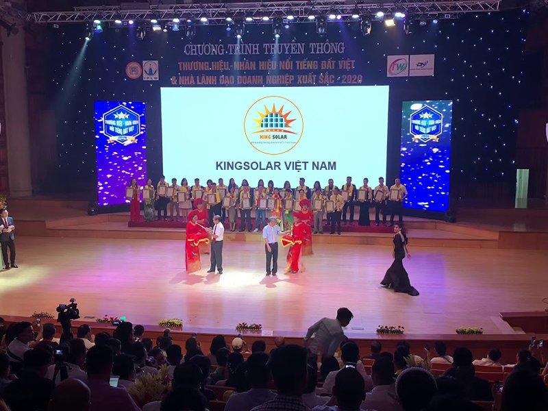 Kingsolar Việt Nam vinh dự nhận giải thưởng Top 50 Thương Hiệu Đất Việt