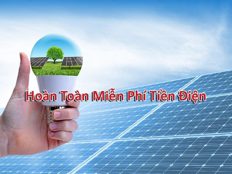 Miễn phí tiền điện khi sử dụng năng lượng mặt trời
