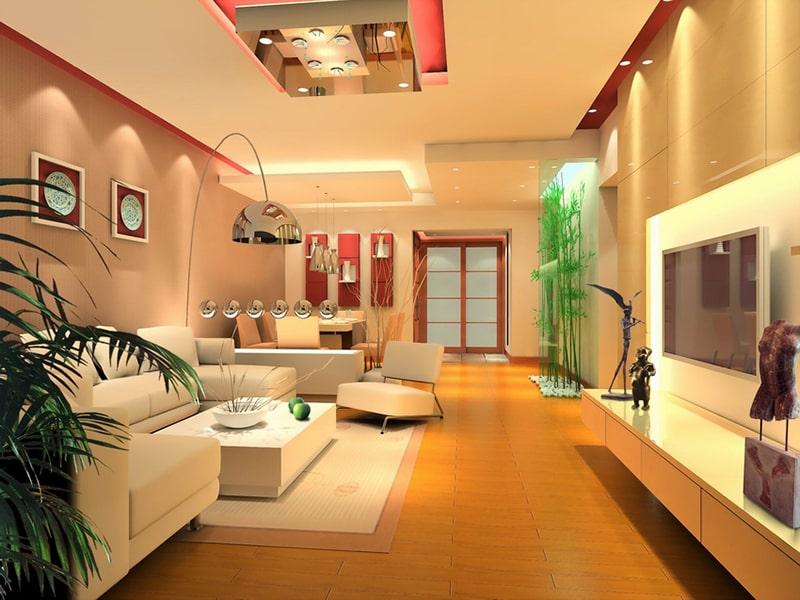đèn led trong trang trí nội thất