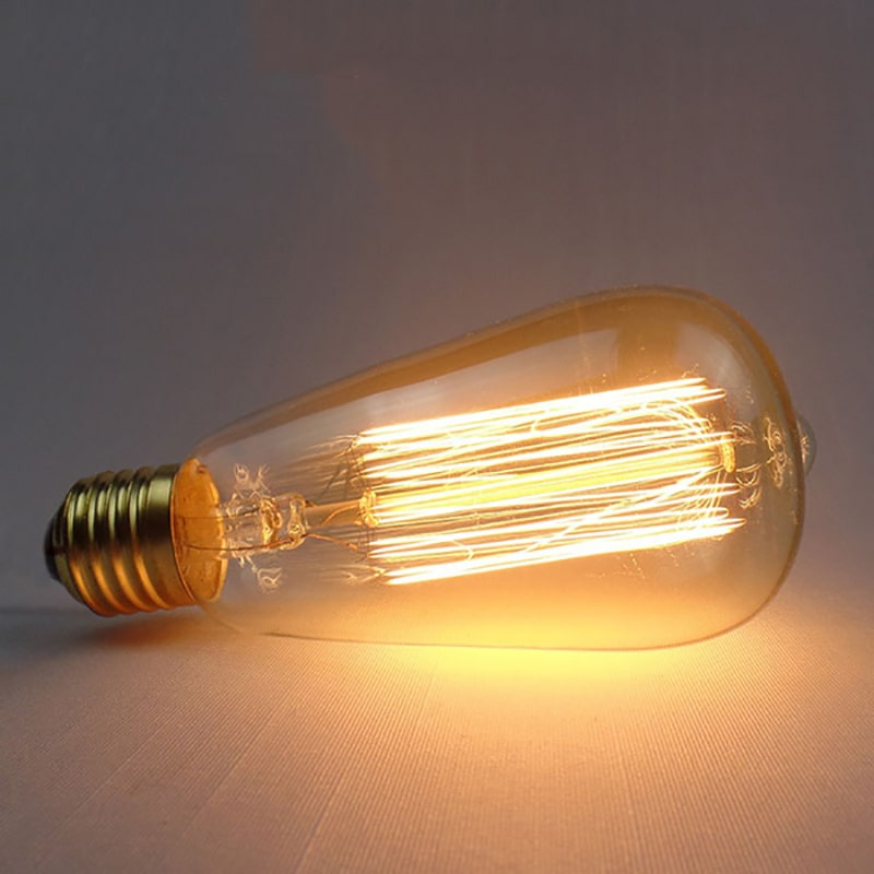 đèn sợi đốt màu trắng ấm