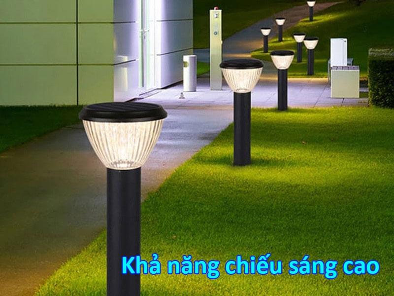 khả năng chiếu sáng của đèn sân vườn năng lượng mặt trời