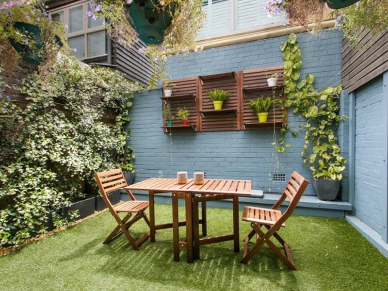 thiết kế võng lớn bàn ghế cho sân vườn