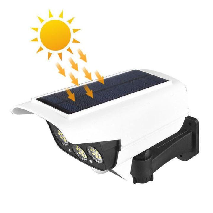 đèn led năng lượng mặt trời mô hình camera