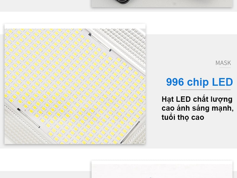 966 Chip Led SMD của đèn năng lượng mặt trời solar light 200w liền thể