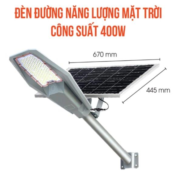 Đèn đường 400W năng lượng mặt trời army phi thuyền cao cấp