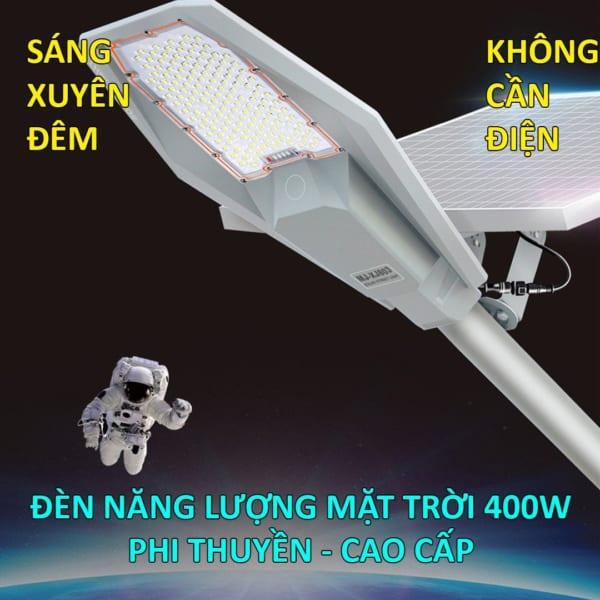 Đèn đường năng lượng mặt trời 400W phi thuyền