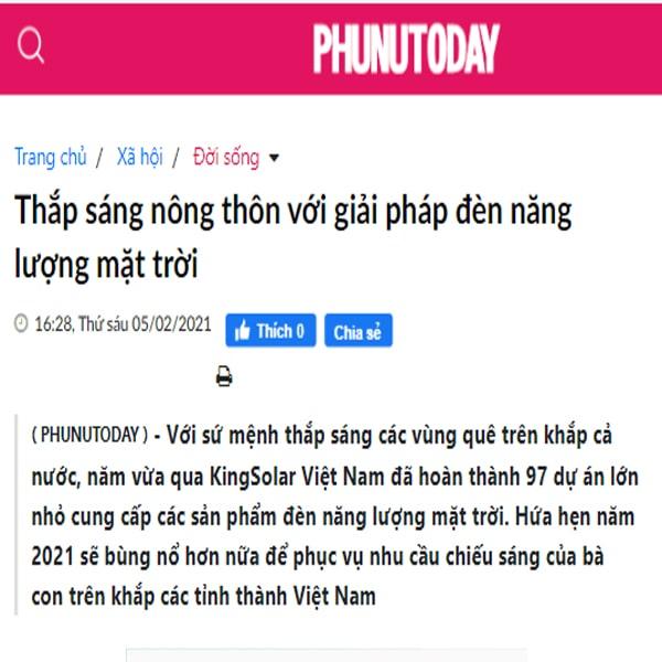 Kingsolar Việt Nam - Triển khai hơn 97 dự án đèn năng lượng mặt trời năm 2020