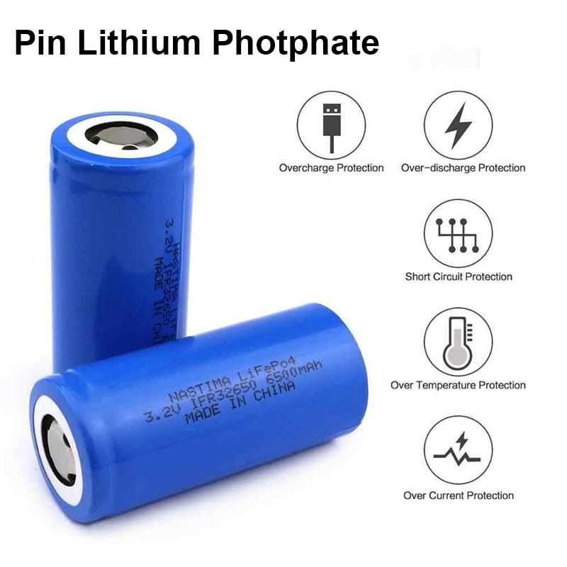 Pin lithium photphate sử dụng cho đèn bulb năng lượng mặt trời