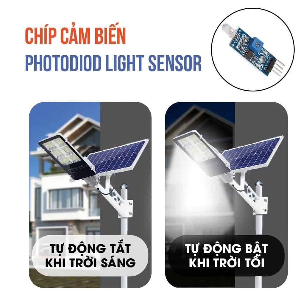 bóng đèn năng lượng mặt trời tự động vận hành thông minh