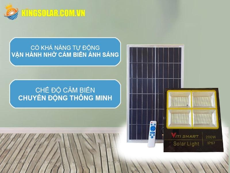 đèn chiếu sáng năng lượng mặt trời chế độ cảm biến ánh sáng thông minh
