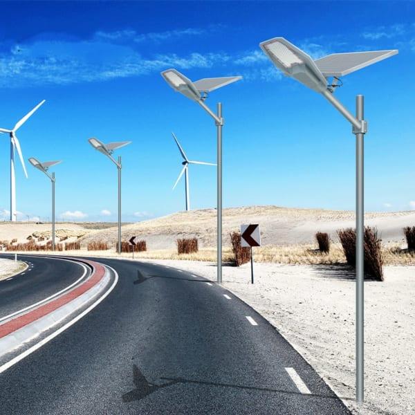 đèn đường năng lượng mặt trời army 400w sử dụng không cần dây dẫn