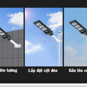 đèn năng lượng mặt trời lắp đặt dễ dàng