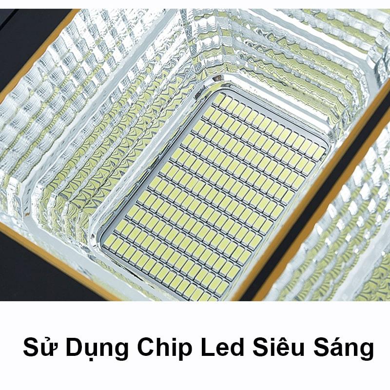 đèn pha năng lượng mặt trời sử dụng chip led siêu sáng