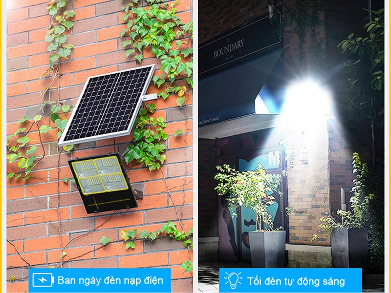 đèn pha năng lượng trang bị chế độ cảm biến ánh sáng thông minh