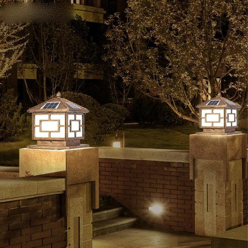 đèn trụ cổng năng lượng mặt trời giúp ngôi nhà của bạn nổi bật hơn